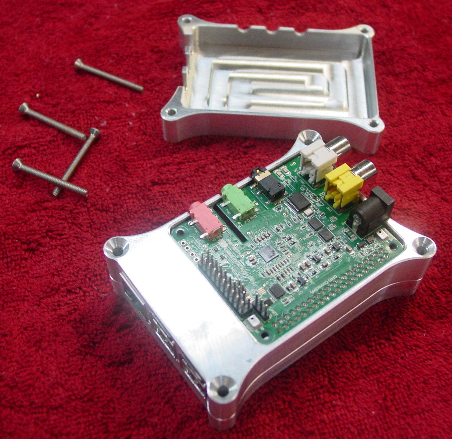 Raspberry Pi Cirrus Logic Audio Card Aluminum Case View 3