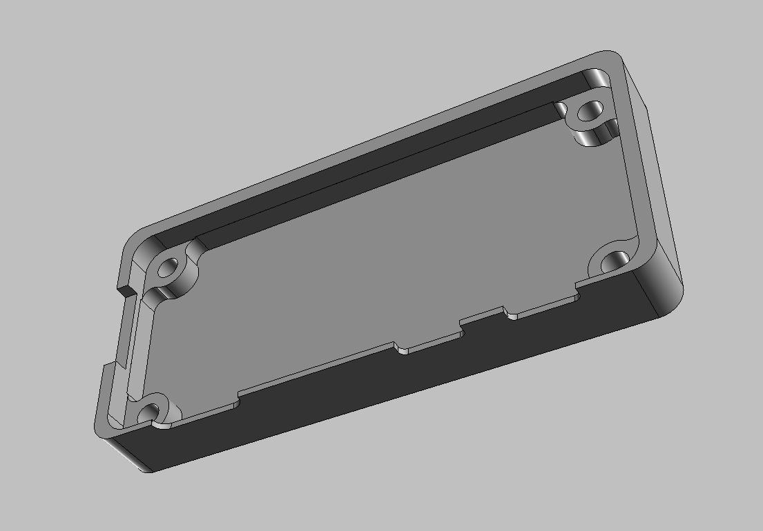 Pi Zero Case Bottom CAD