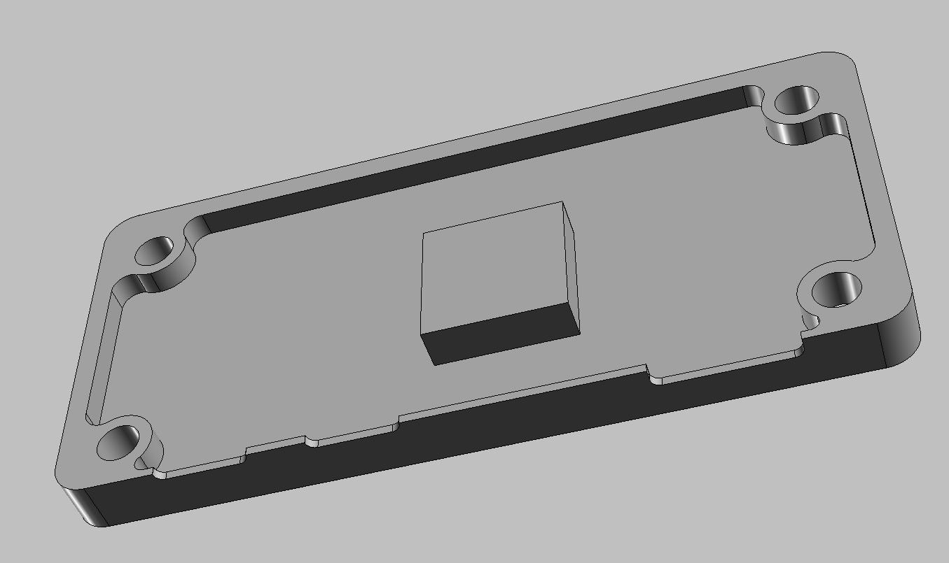 Pi Zero Case Top CAD