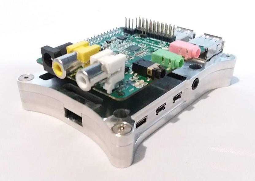 Raspberry Pi 4 Open Shield Case with Cirrus Logic Audio Card