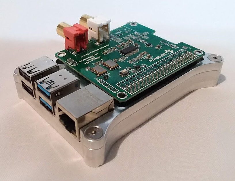 Raspberry Pi 4 Open Shield Case with HiFi Berry