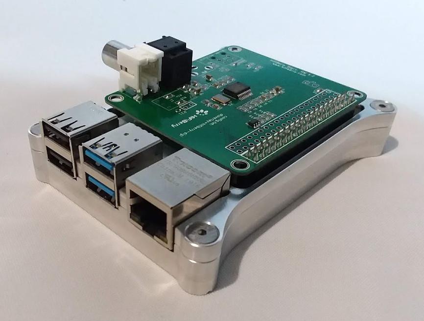 Raspberry Pi 4 Open Shield Case with HiFi Berry DiGi+